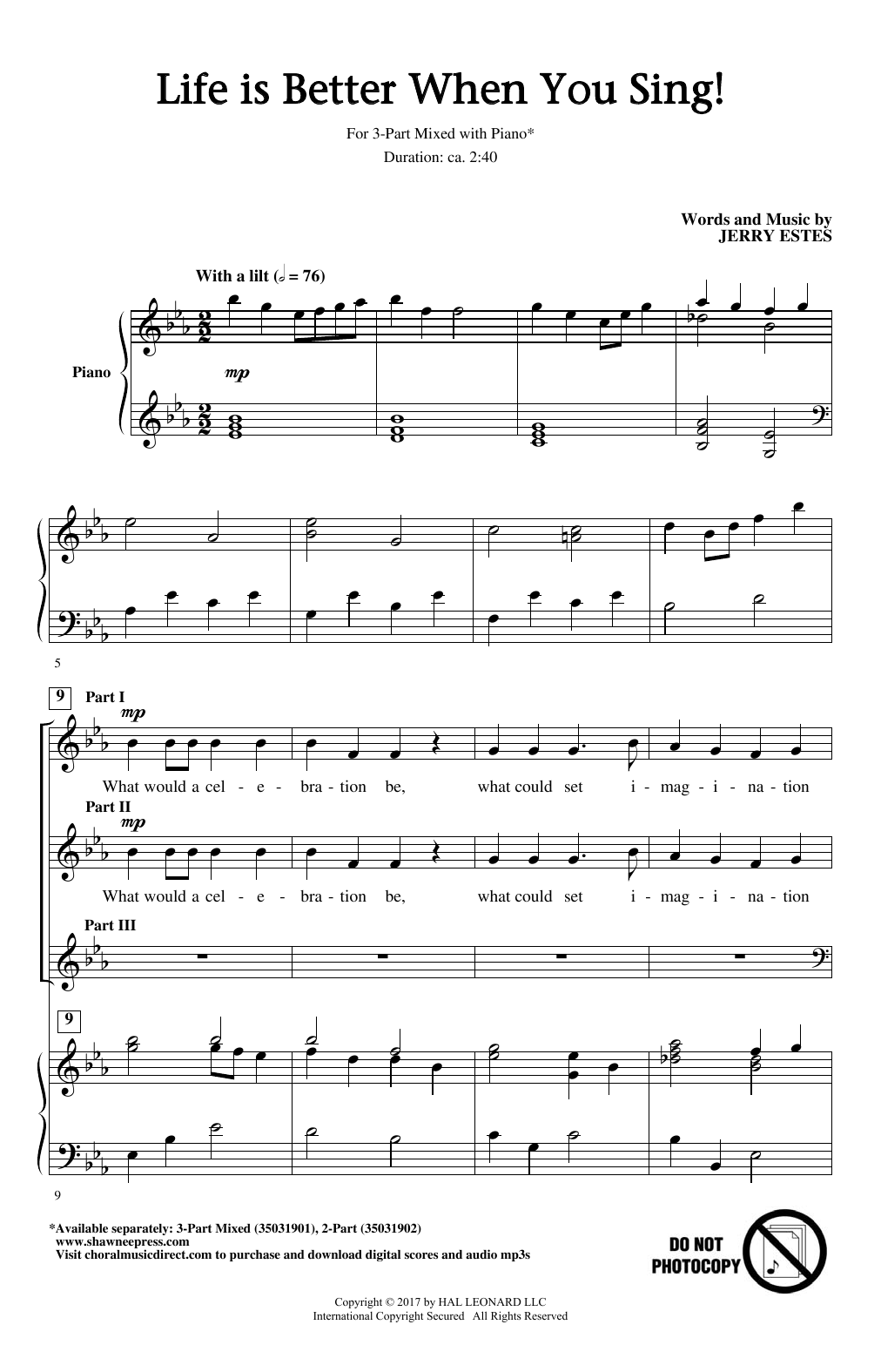Life Is Better When You Sing! Sheet Music
