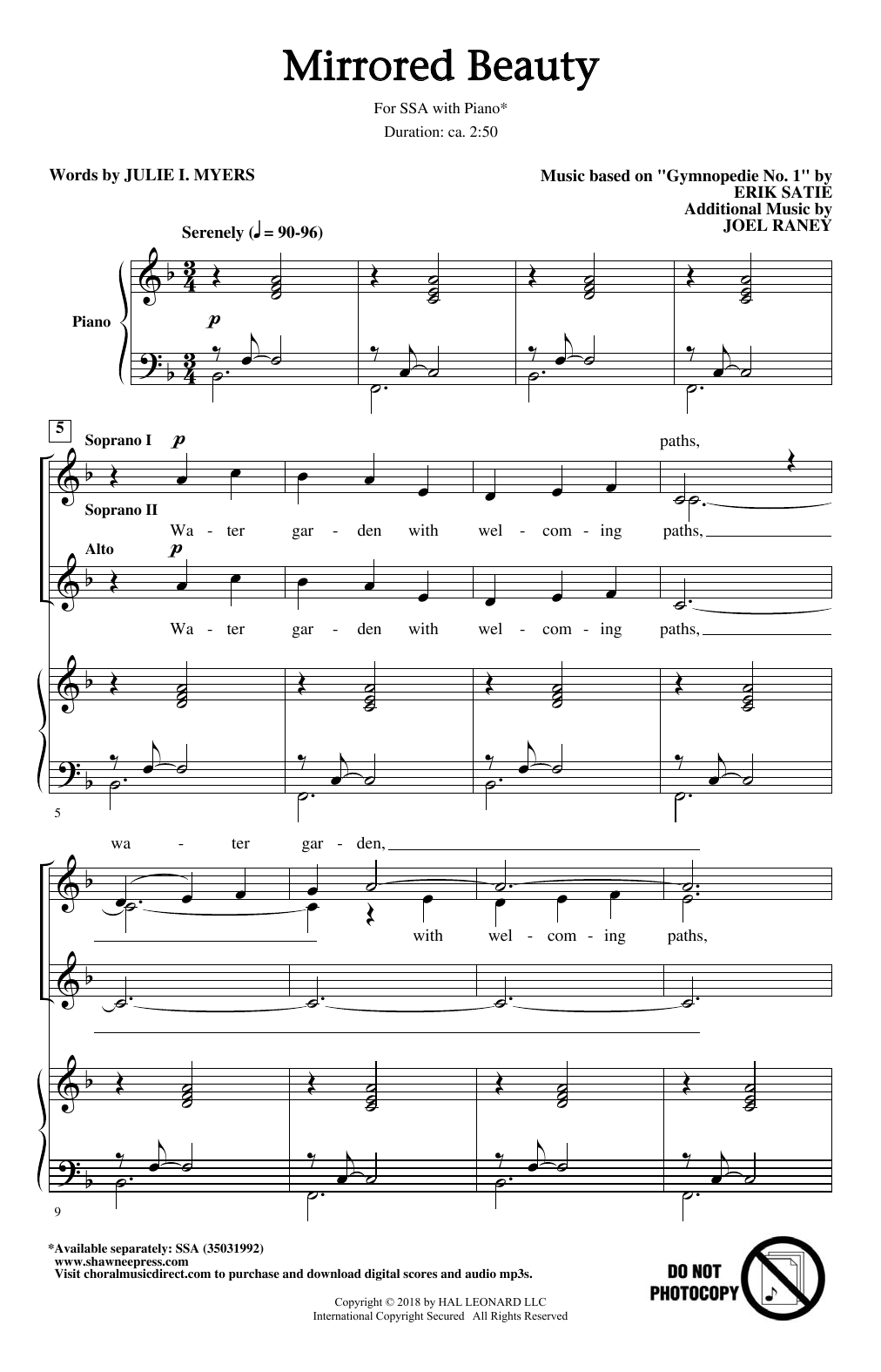 Mirrored Beauty Sheet Music