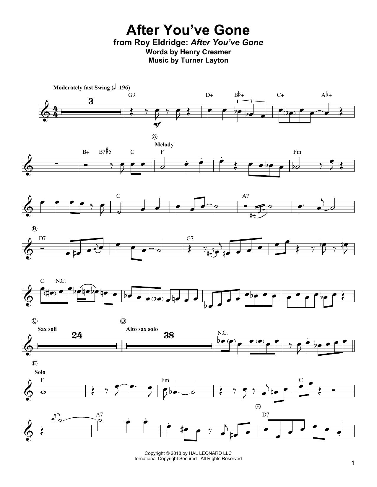 After You've Gone (Trumpet Transcription)