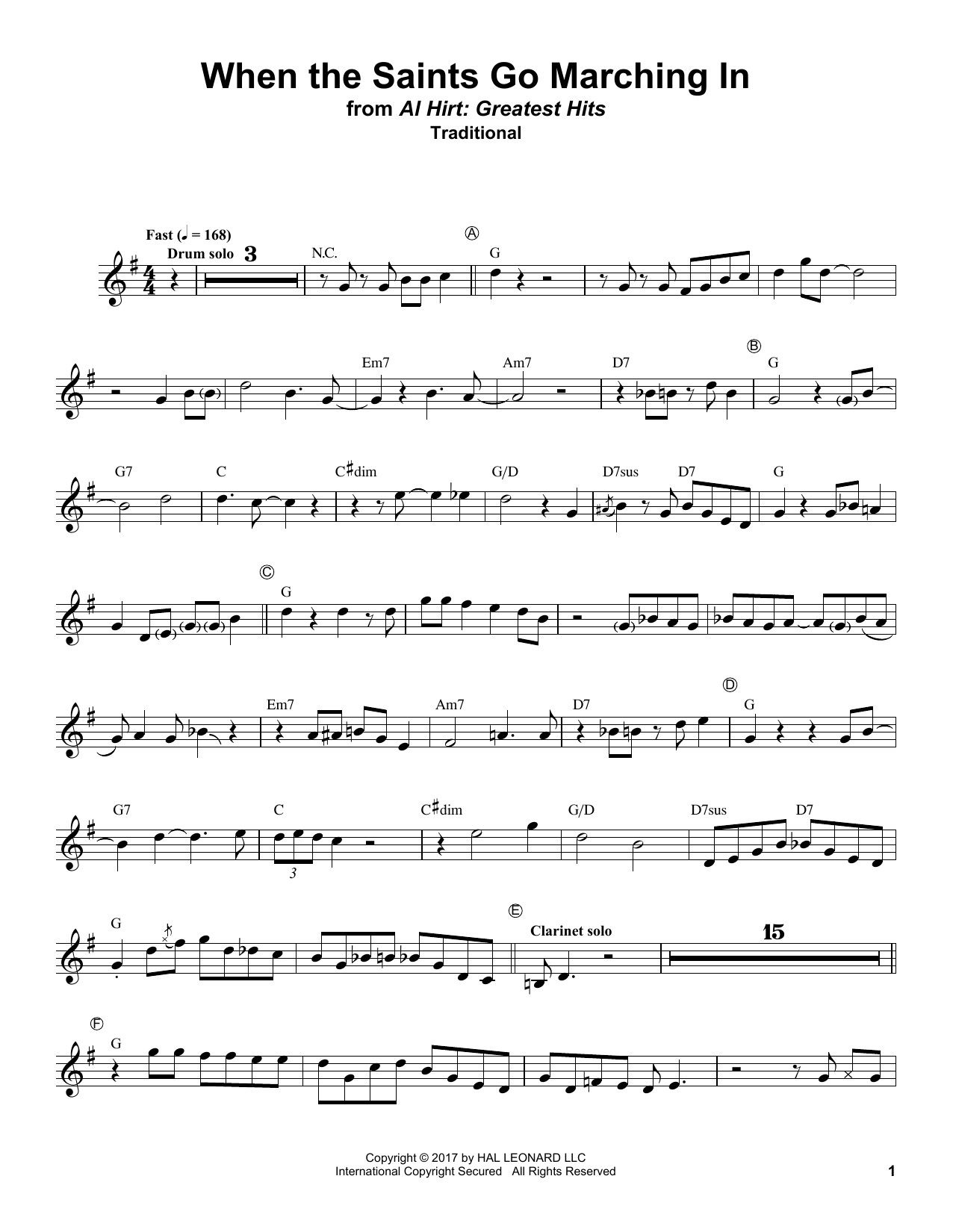 When The Saints Go Marching In (Trumpet Transcription)
