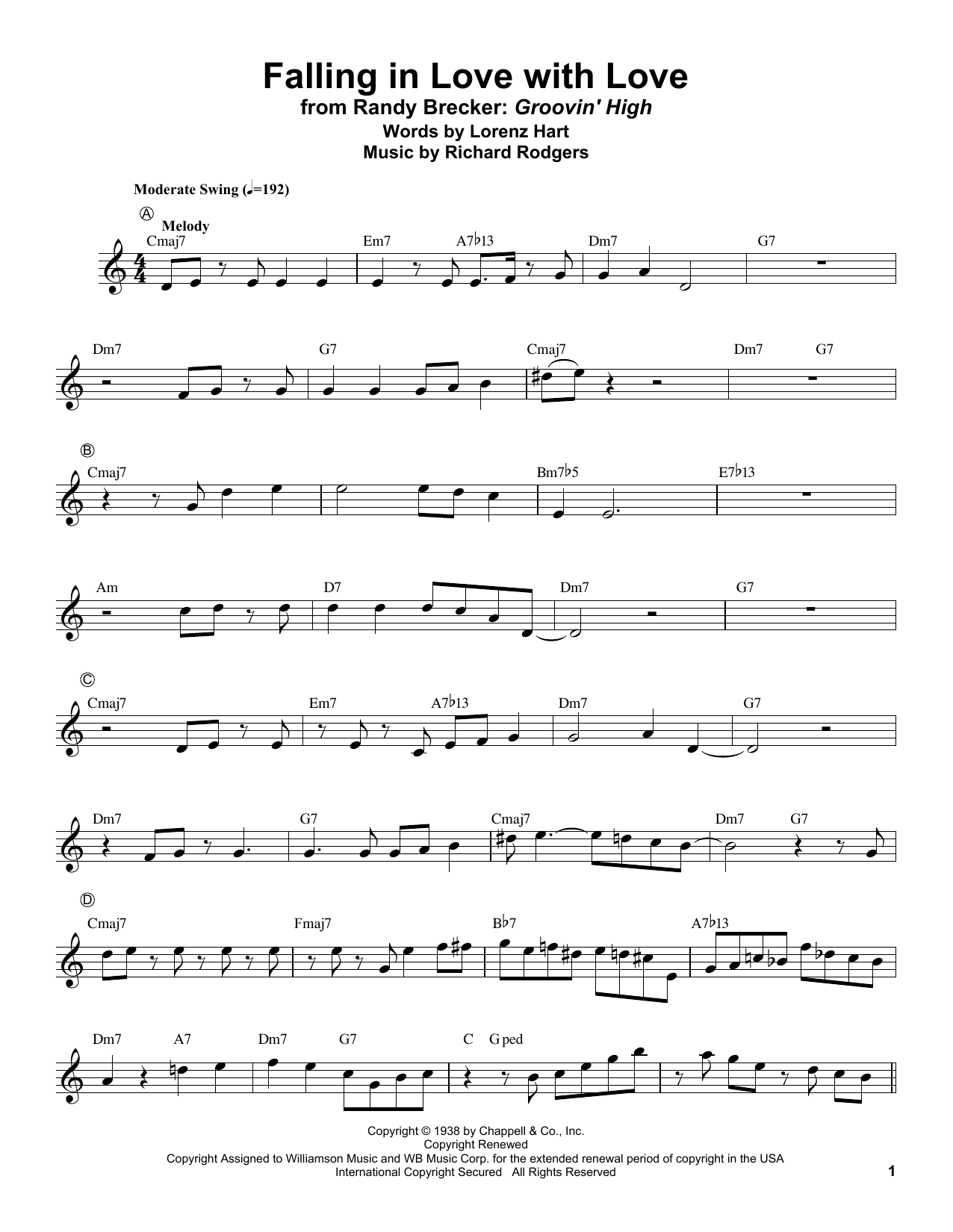 Falling In Love With Love (Trumpet Transcription)