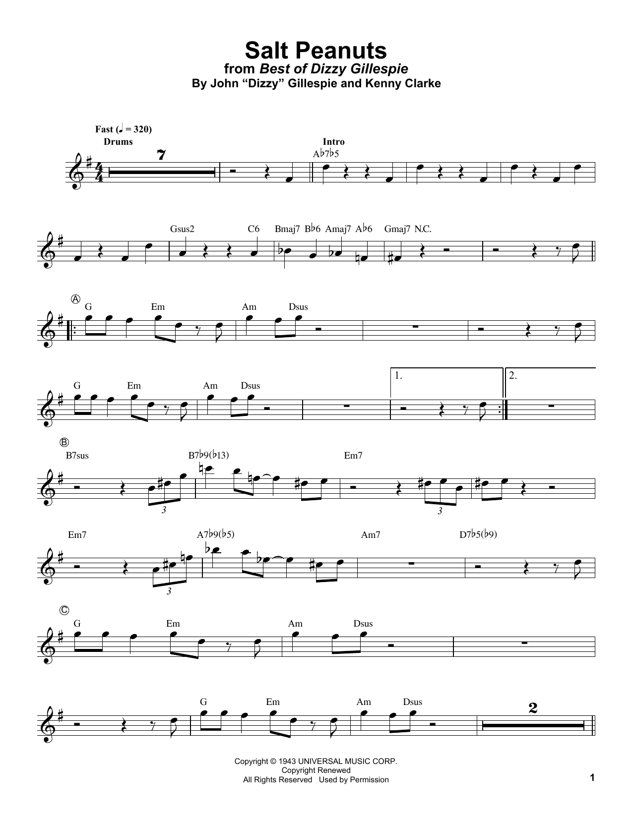 Salt Peanuts (Trumpet Transcription)