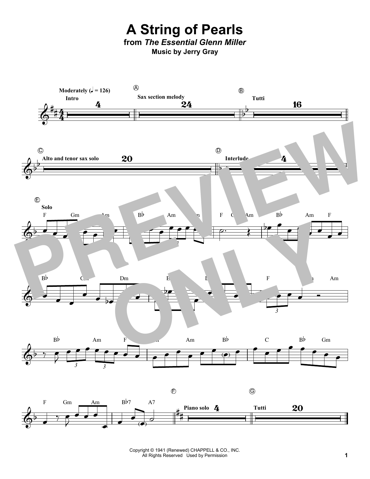A String Of Pearls (Trumpet Transcription)