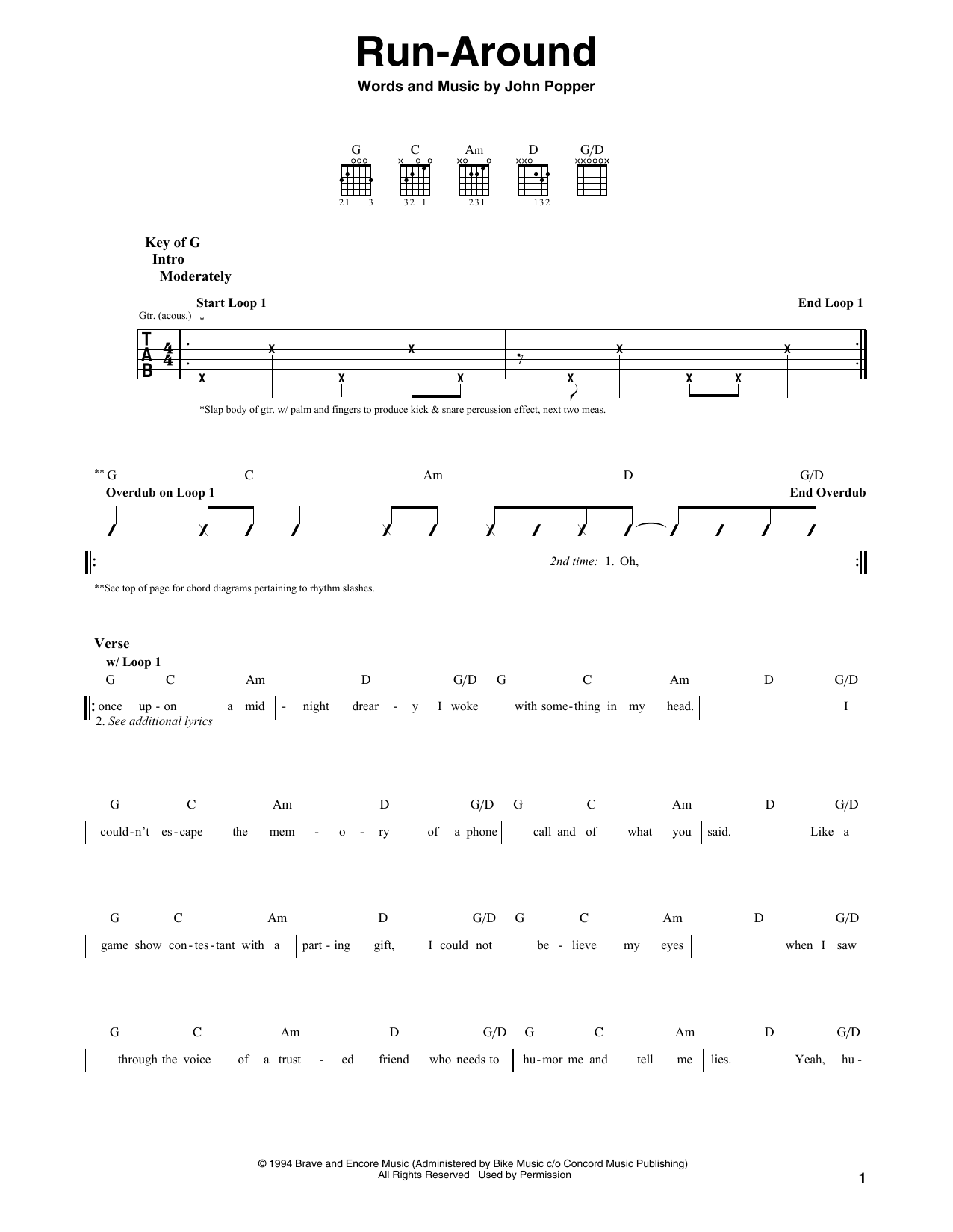 Run-Around Sheet Music