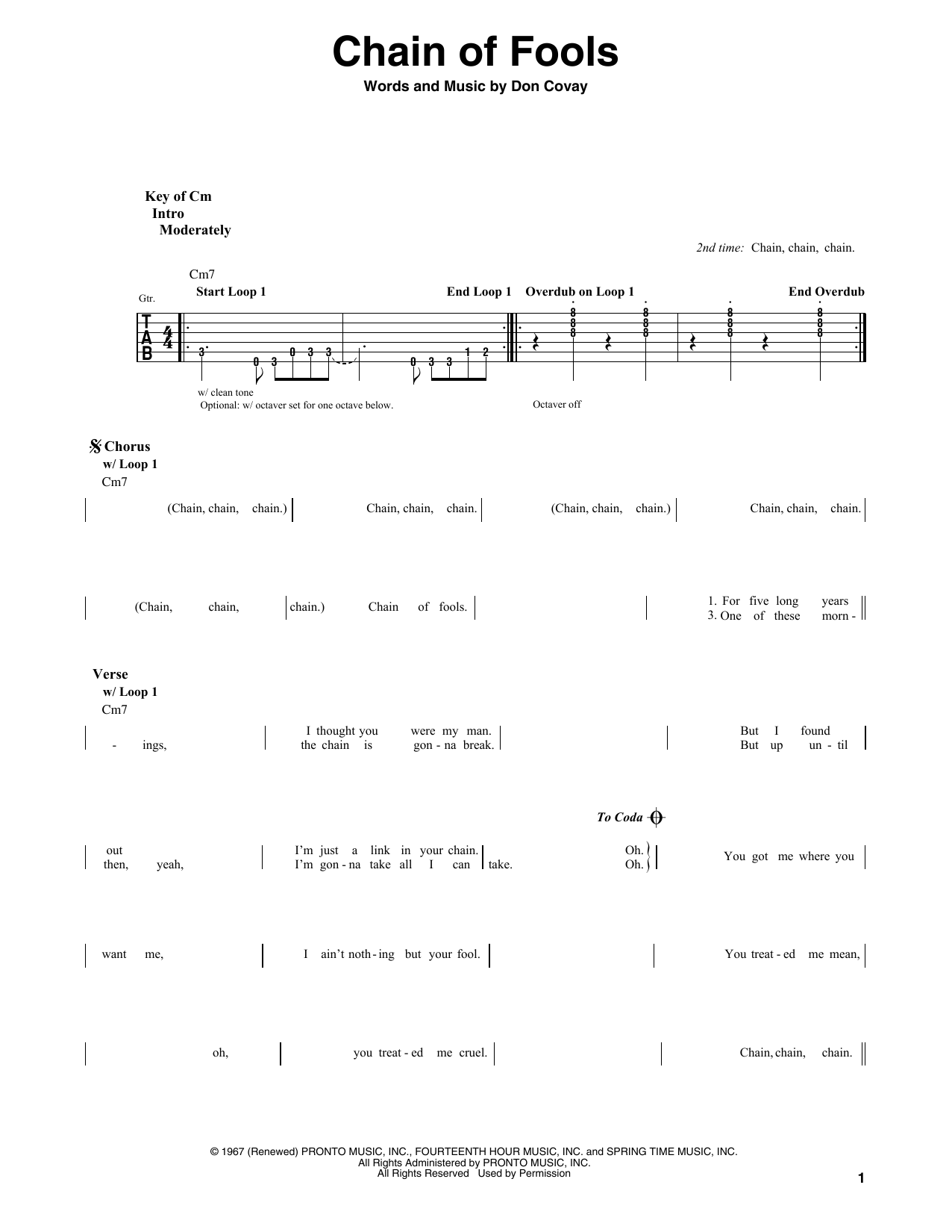 Chain Of Fools Sheet Music