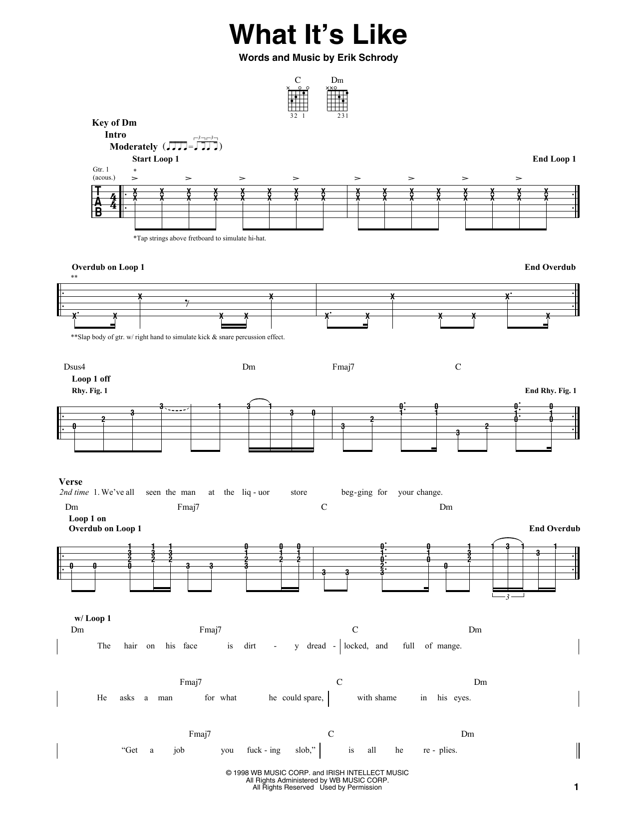 Sheet Music Digital Files To Print - Licensed Guitar Lead