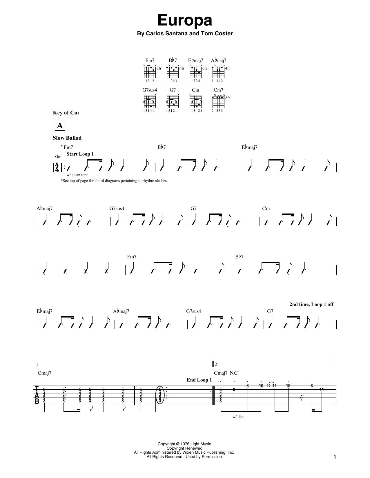 Europa Sheet Music