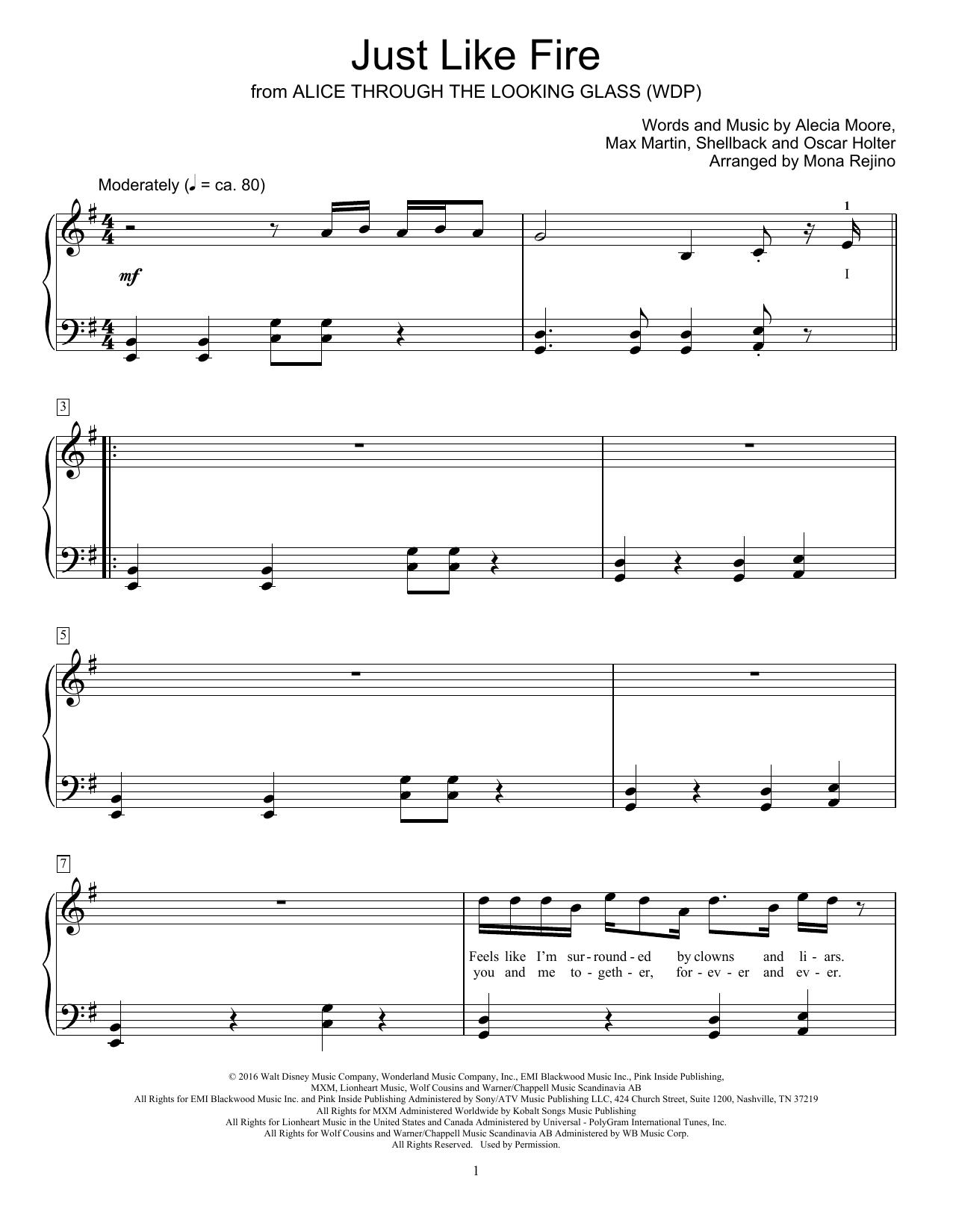Just Like Fire (Educational Piano)