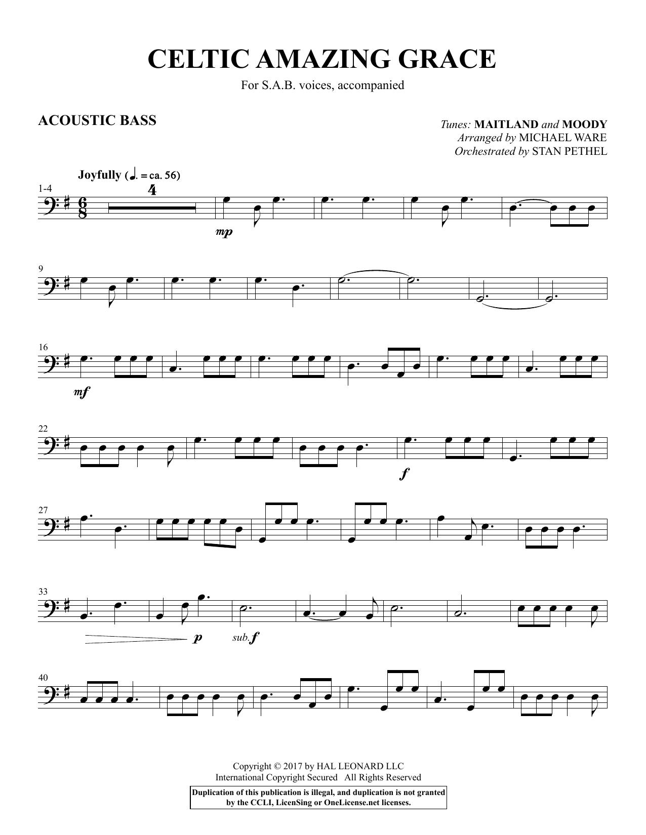 Celtic Amazing Grace - Acoustic Bass (Choir Instrumental Pak)