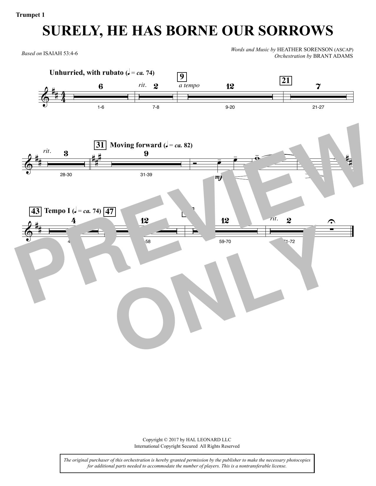 Surely, He Has Borne Our Sorrows - Bb Trumpet 1 (Choir Instrumental Pak)