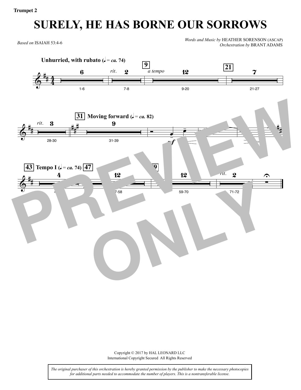 Surely, He Has Borne Our Sorrows - Bb Trumpet 2 (Choir Instrumental Pak)