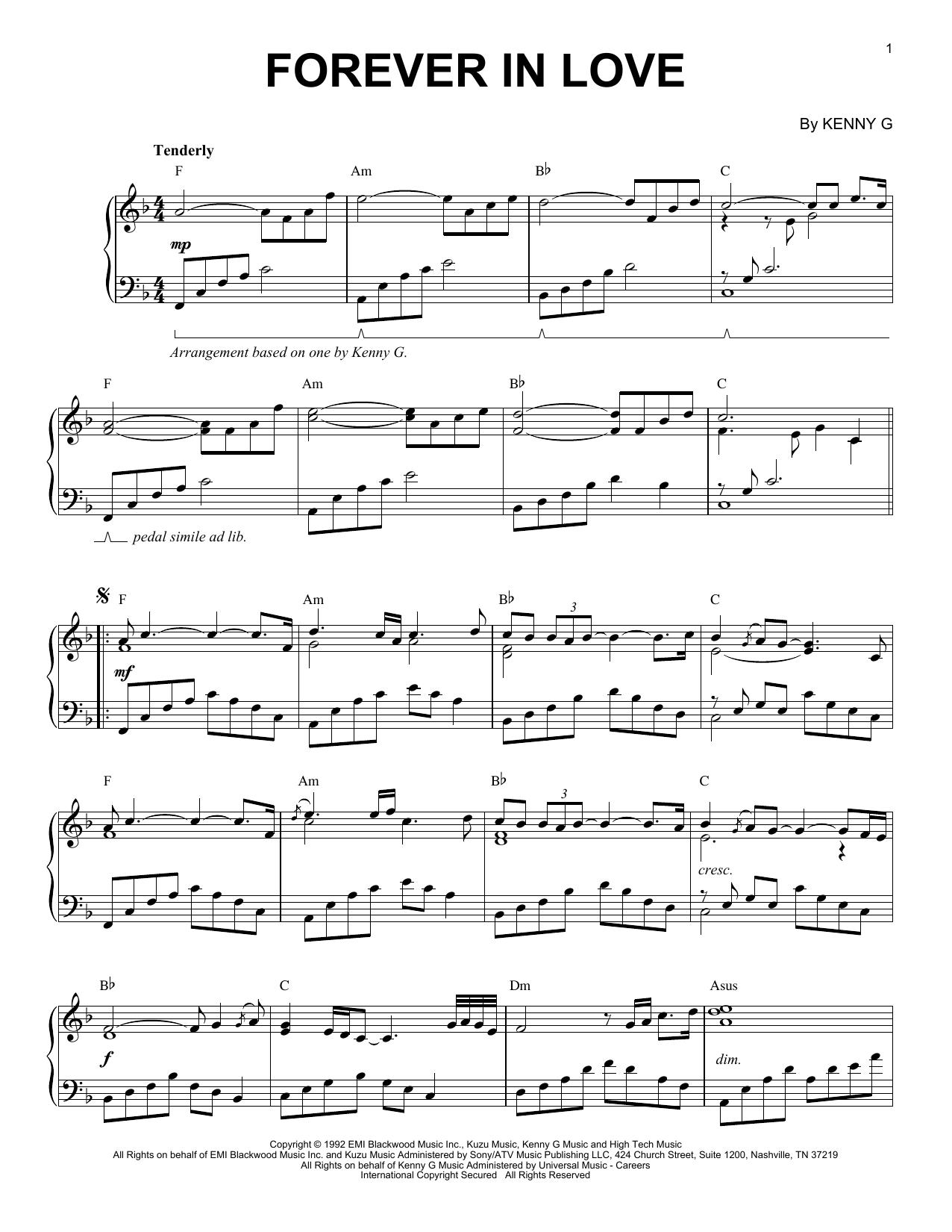 Forever In Love (Piano Solo)