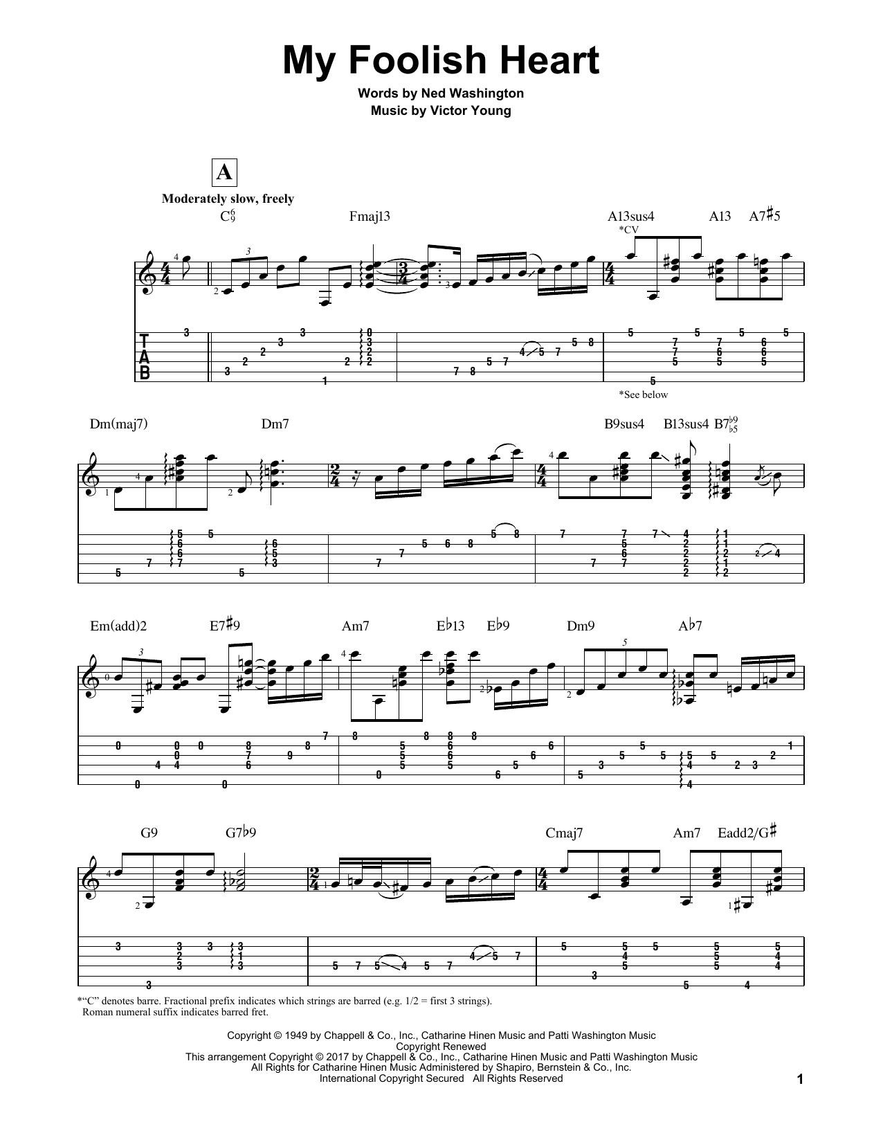 My Foolish Heart (Guitar Tab)