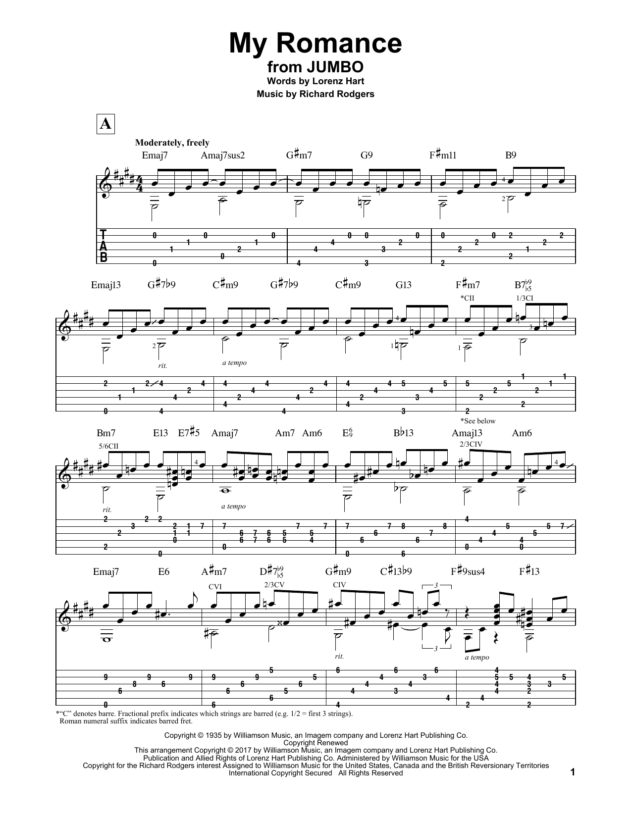 My Romance Sheet Music