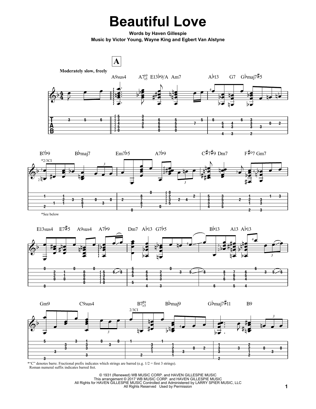 Beautiful Love Sheet Music