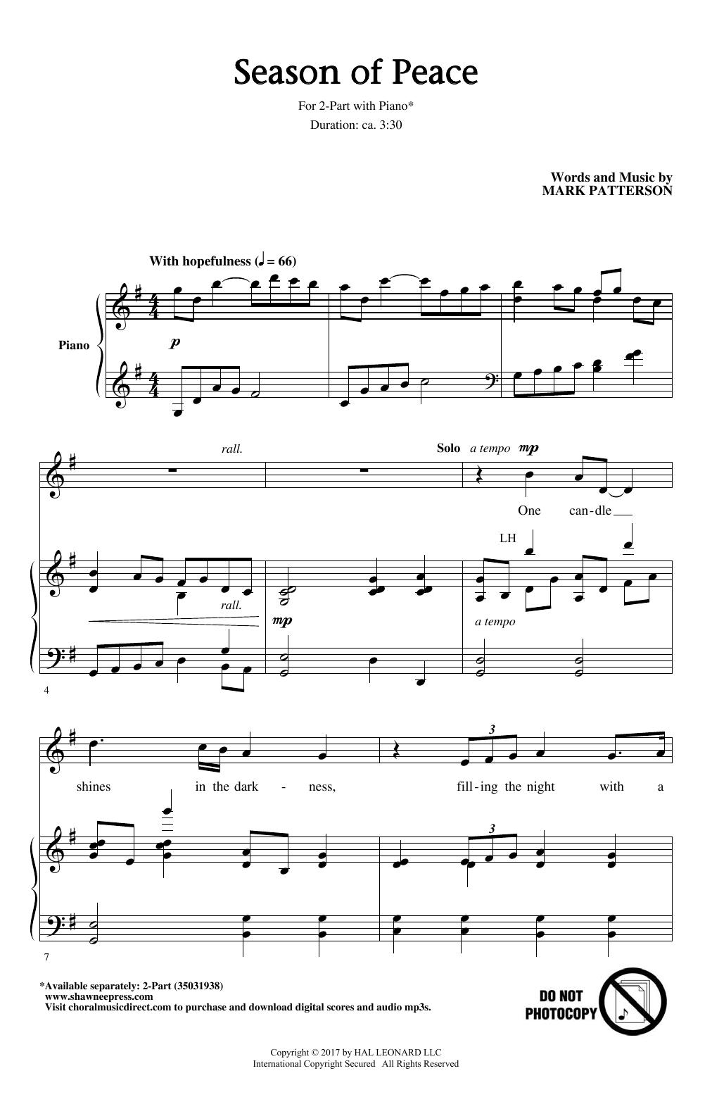 Season Of Peace Sheet Music