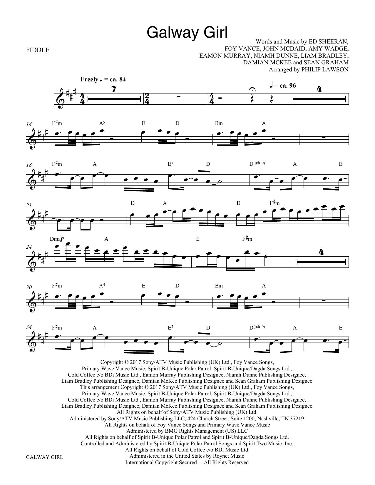 Galway Girl - Solo Violin (Choir Instrumental Pak)