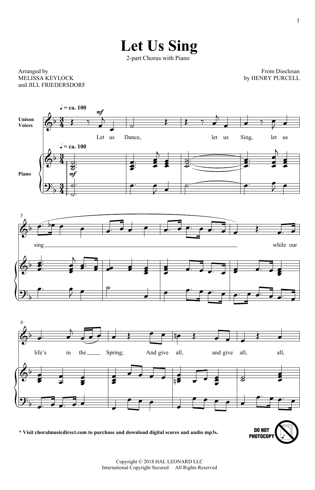 Let Us Sing Sheet Music
