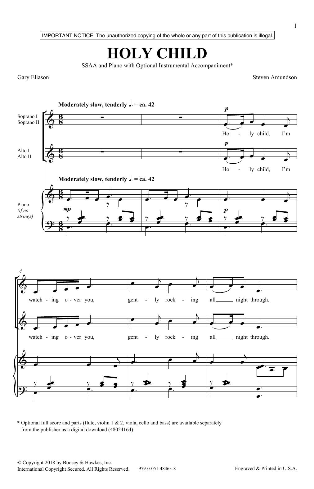 Holy Child Sheet Music