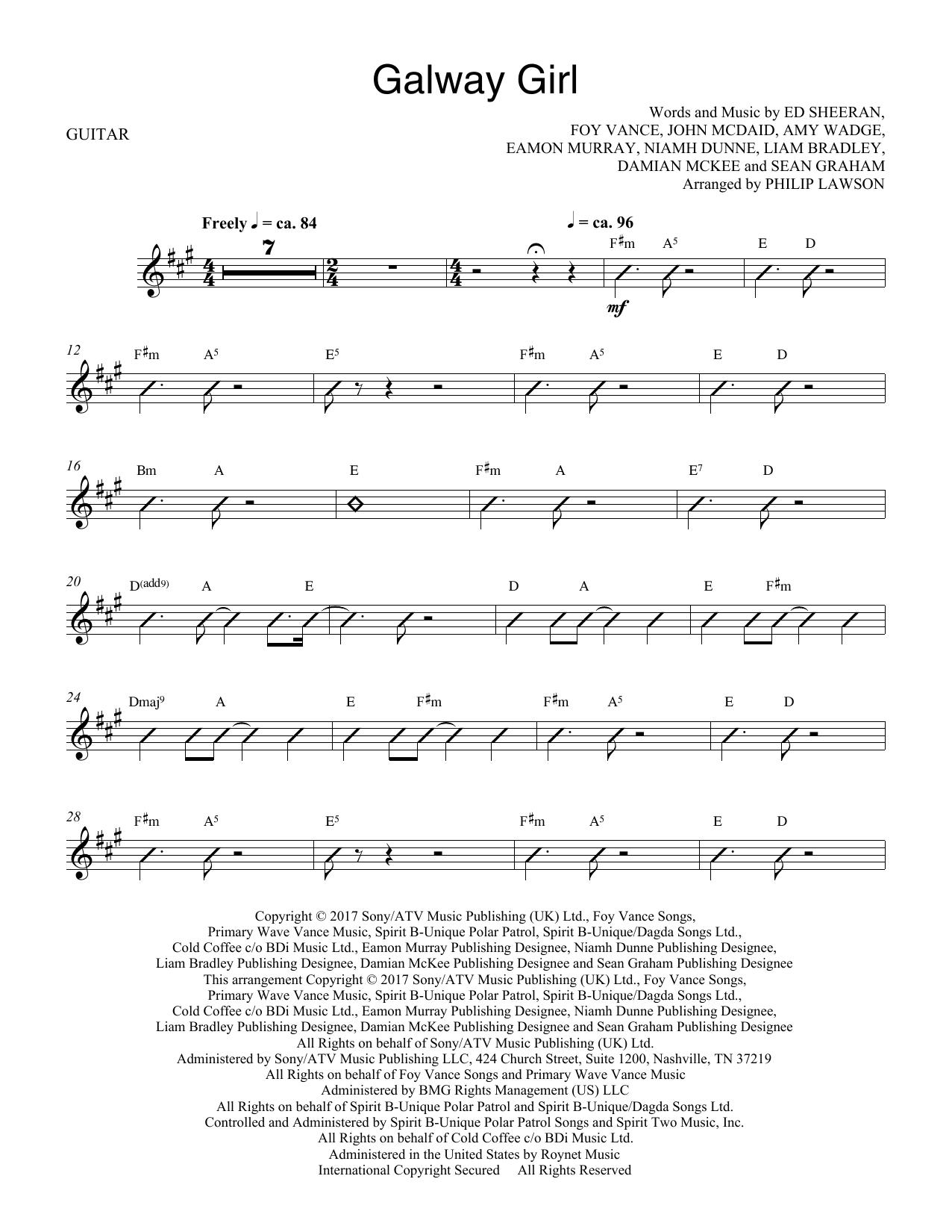 Galway Girl - Electric Guitar (Choir Instrumental Pak)