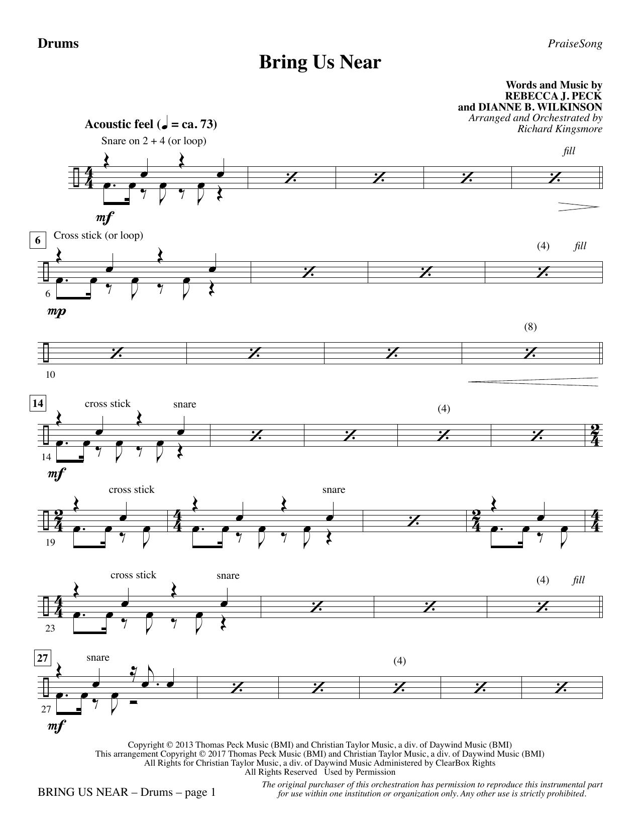 Bring Us Near - Drums (Choir Instrumental Pak)