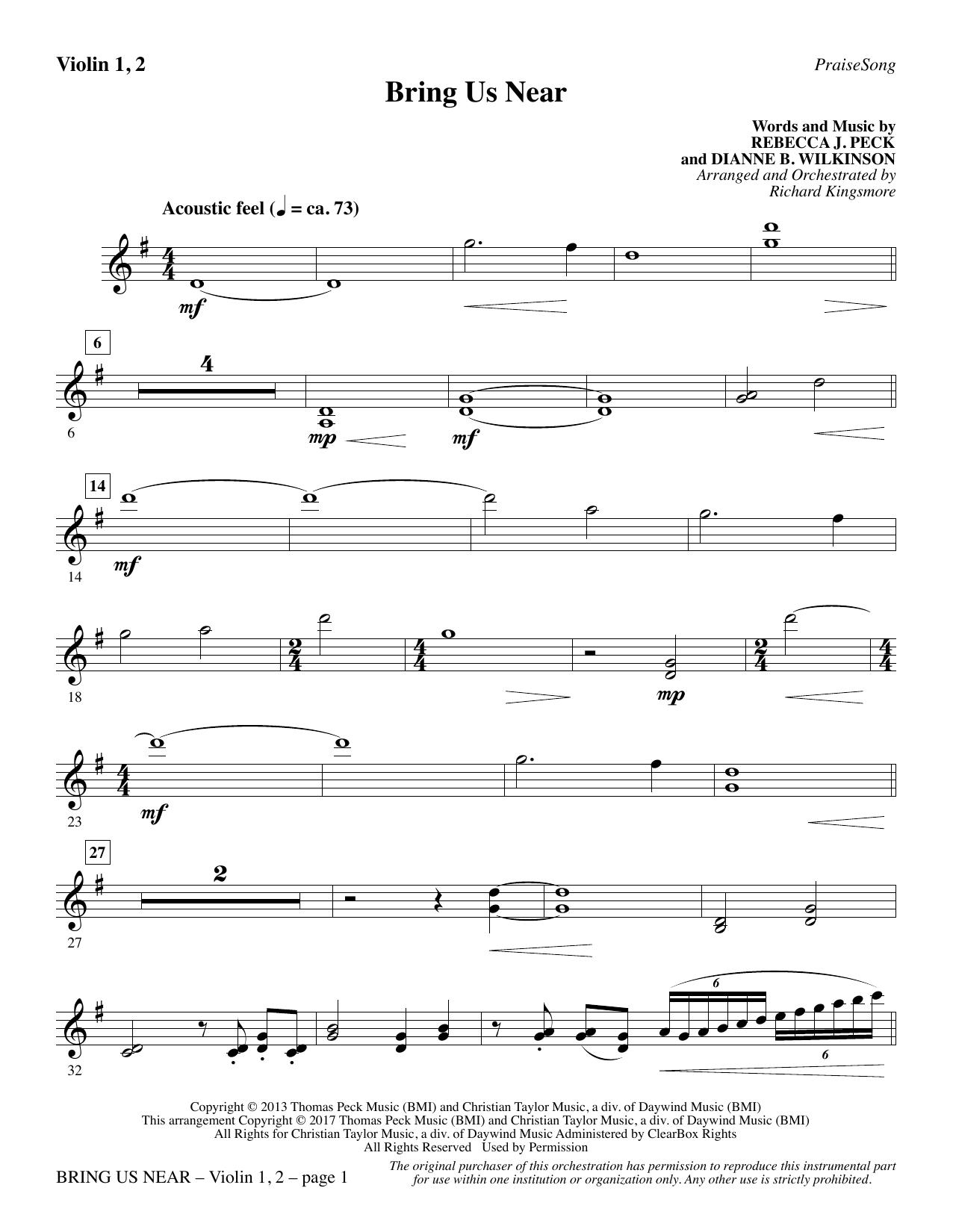 Bring Us Near - Violin 1, 2 (Choir Instrumental Pak)