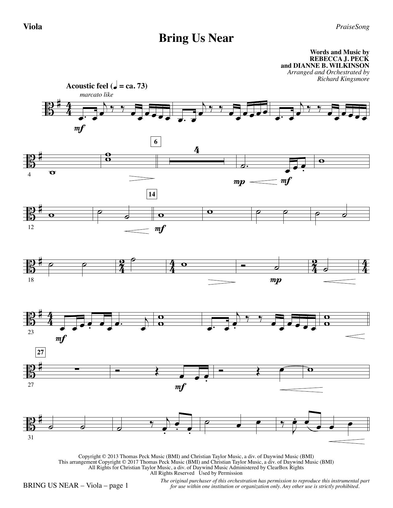 Bring Us Near - Viola (Choir Instrumental Pak)