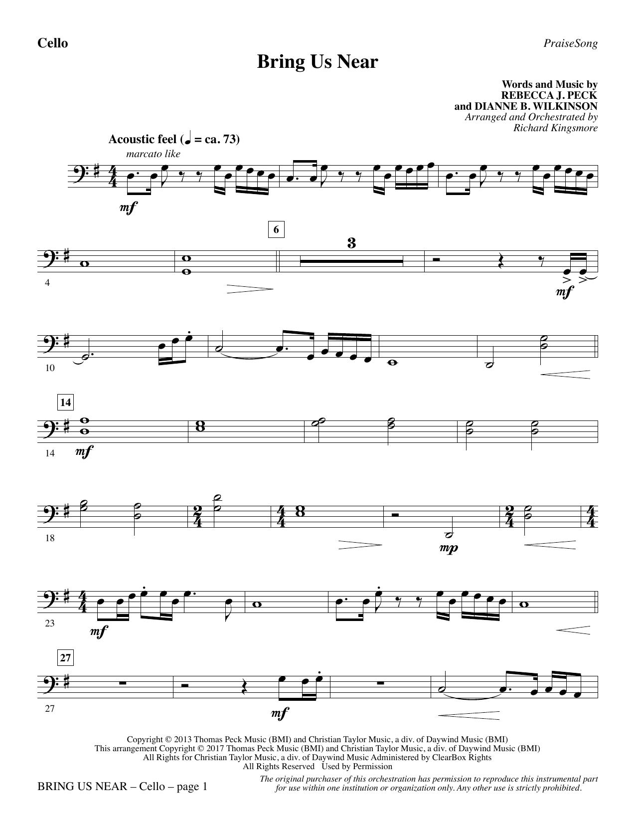 Bring Us Near - Cello (Choir Instrumental Pak)