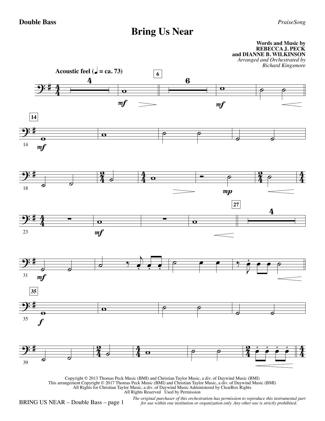 Bring Us Near - Double Bass (Choir Instrumental Pak)