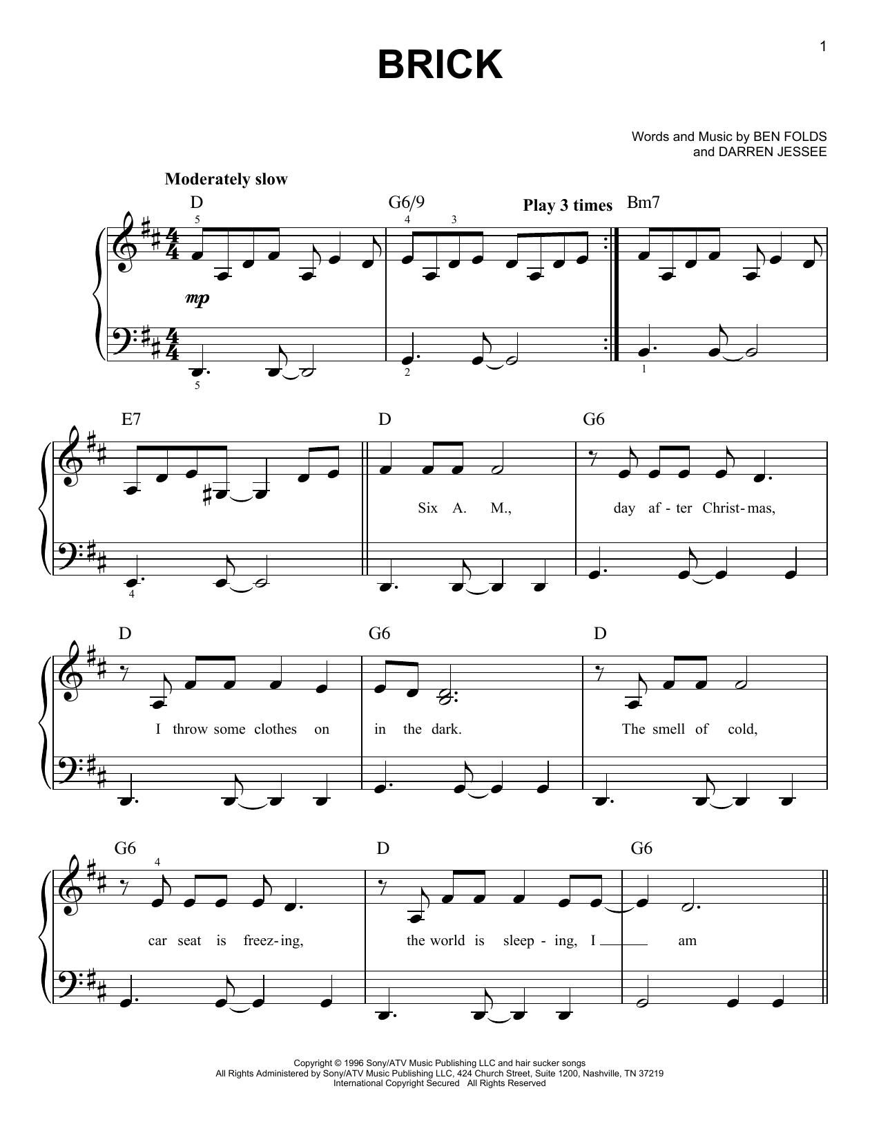 Brick (Very Easy Piano)