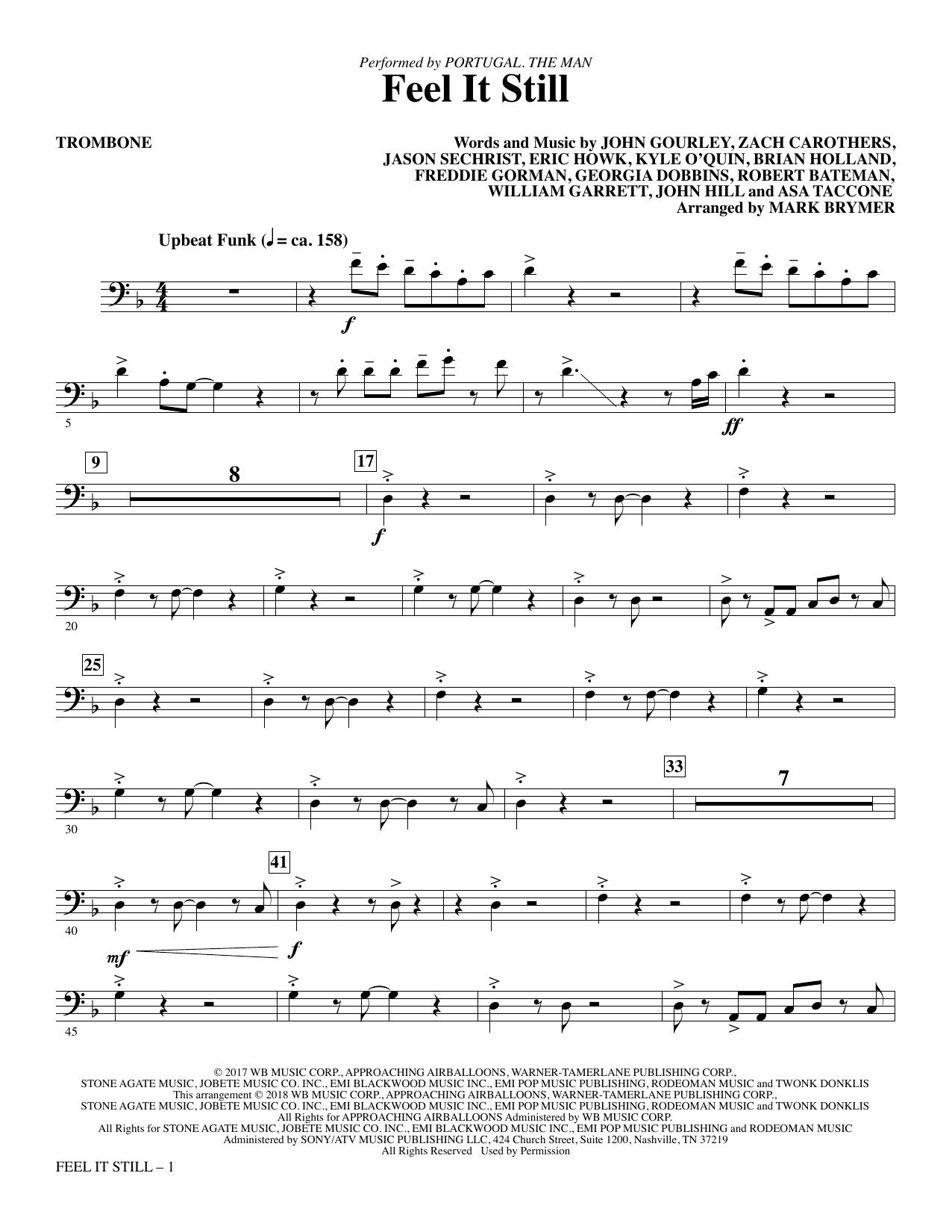 Feel It Still - Trombone (Choir Instrumental Pak)