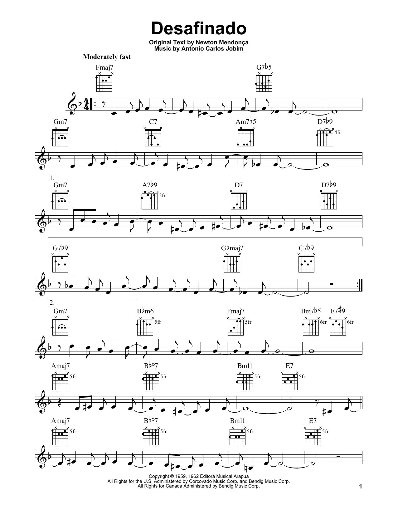 Desafinado (Easy Guitar)