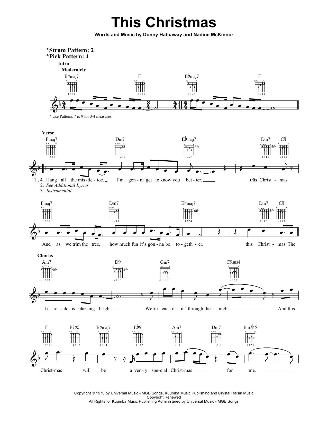 This Christmas (Easy Guitar)