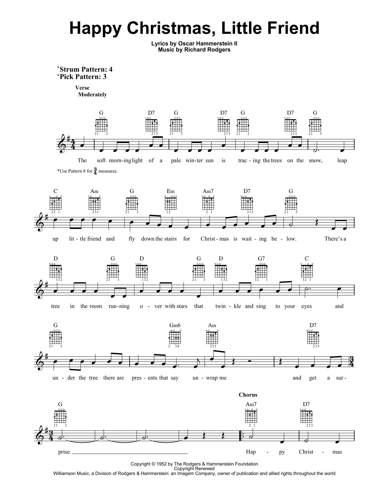 Happy Christmas, Little Friend (Easy Guitar)