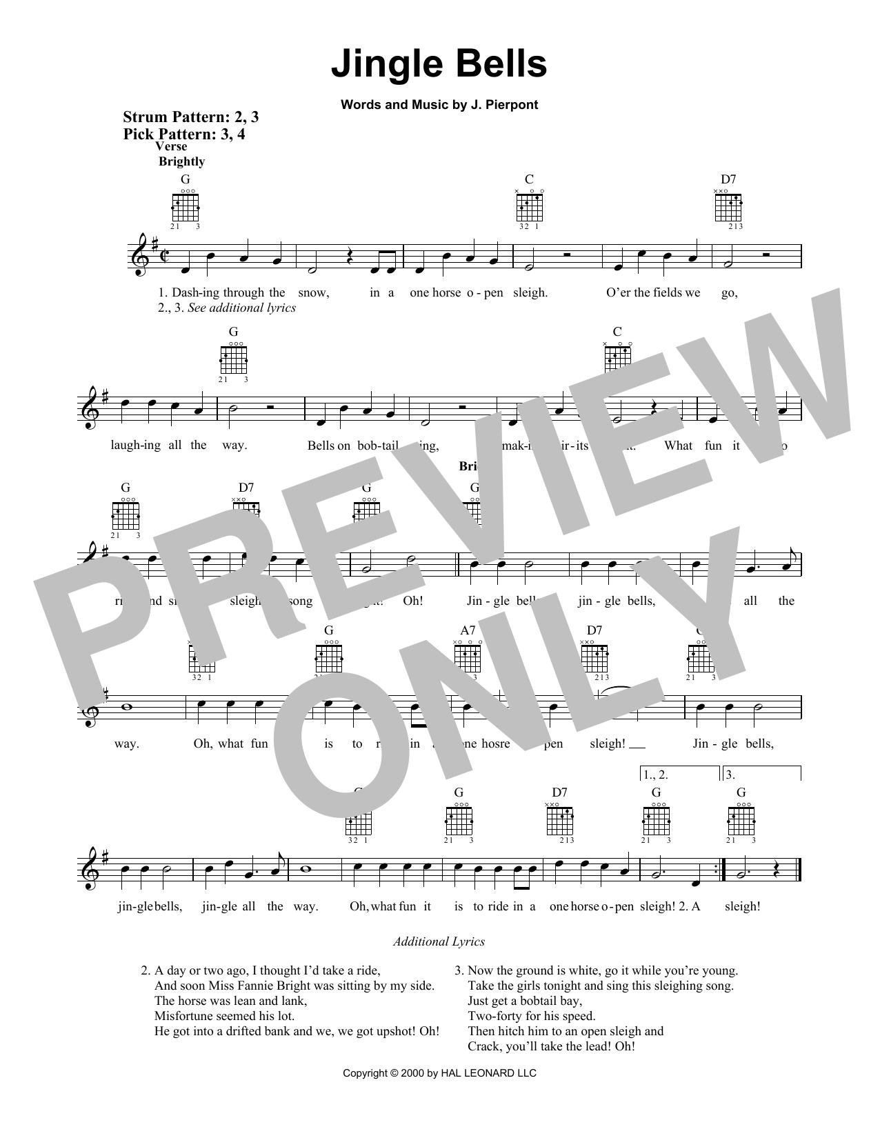 Jingle Bells (Easy Guitar)