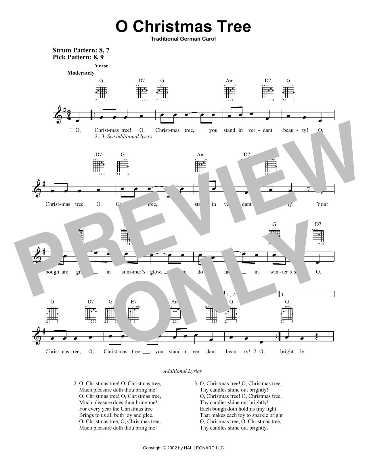 O Christmas Tree (Easy Guitar)