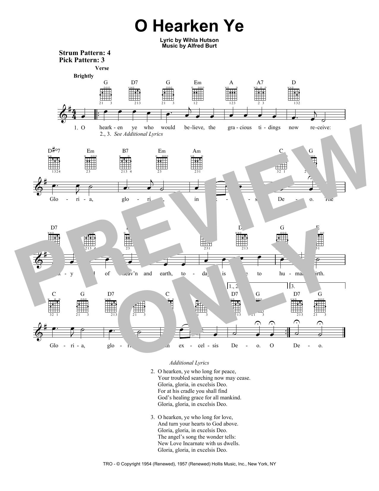 O Hearken Ye (Easy Guitar)
