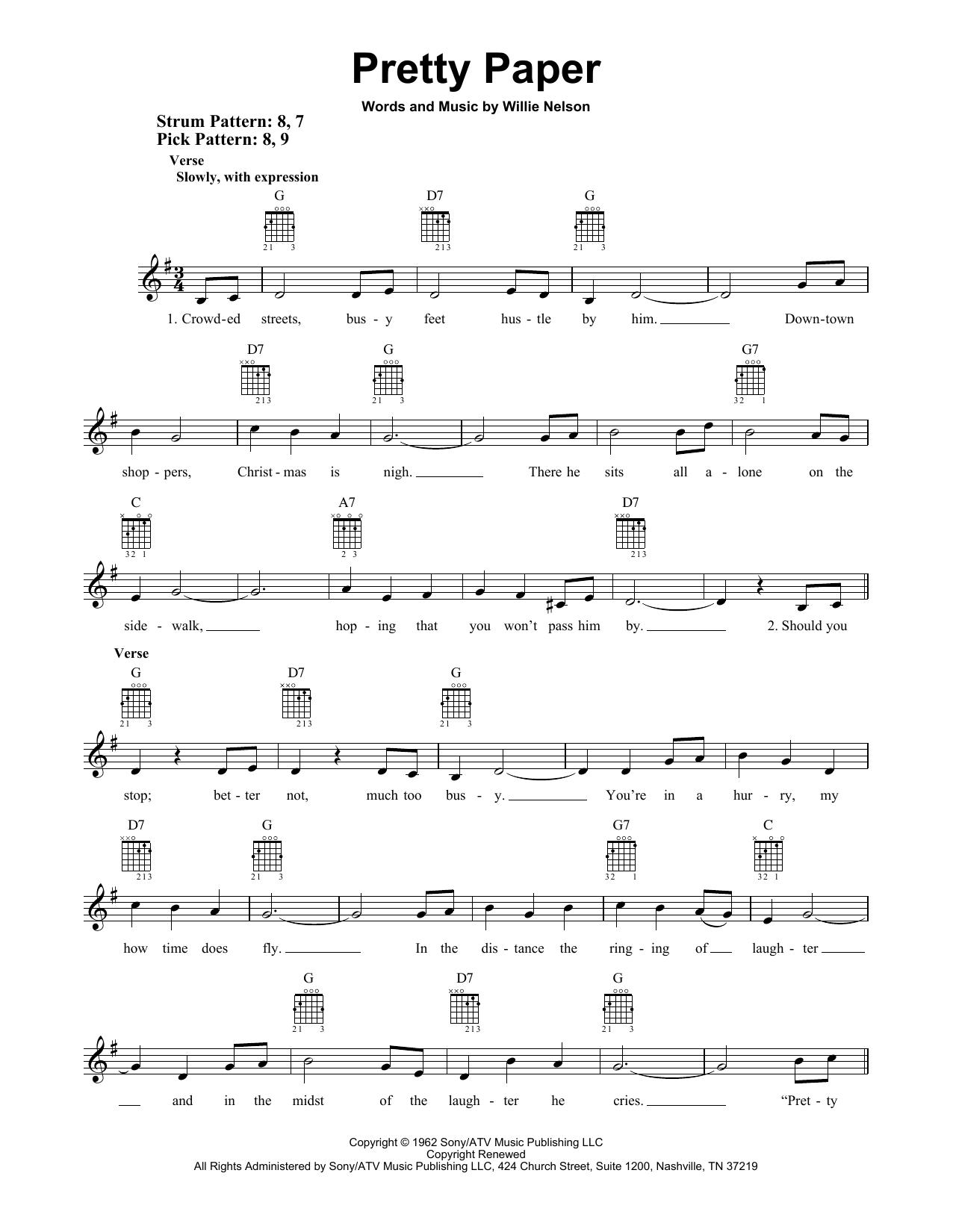 Pretty Paper (Easy Guitar)