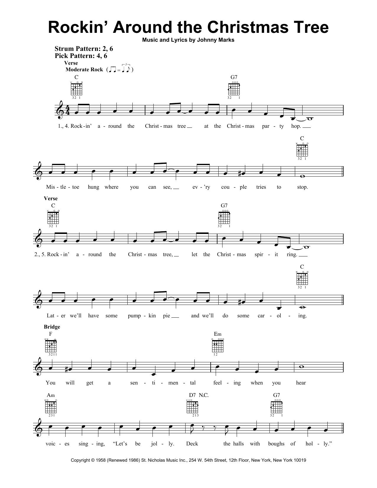 Rockin' Around The Christmas Tree (Easy Guitar)