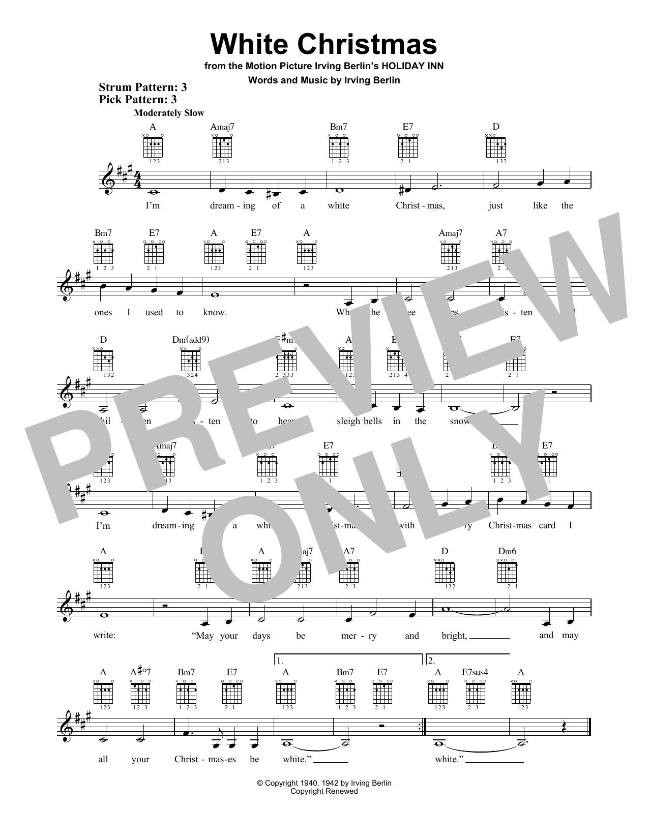 White Christmas (Easy Guitar)