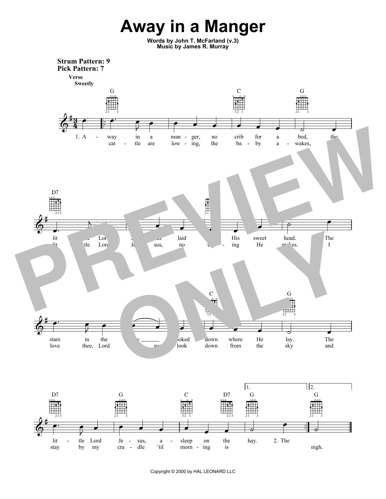 Away In A Manger (Easy Guitar)