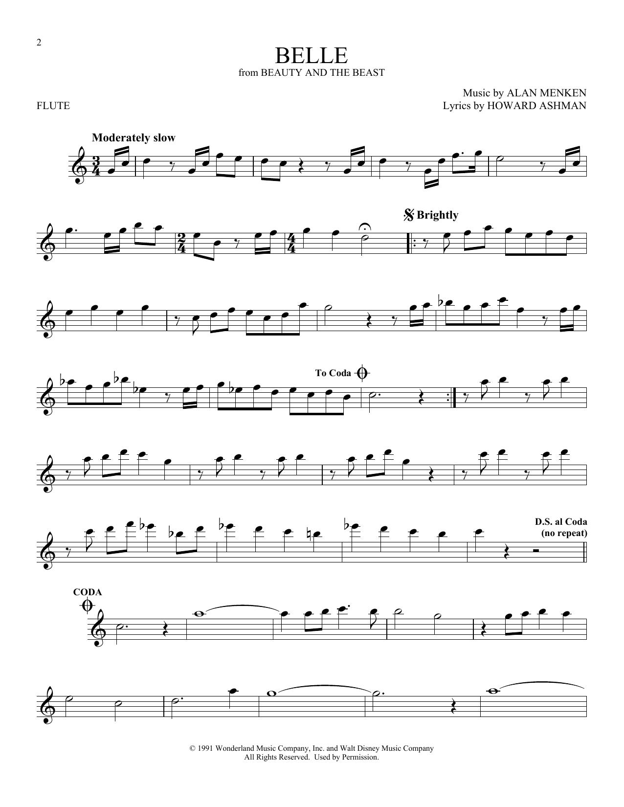 Belle (Flute Solo)