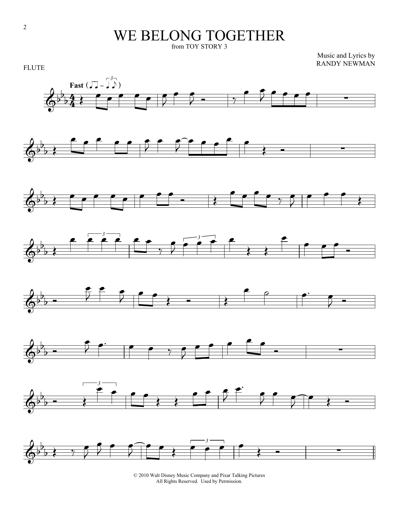 We Belong Together (from Toy Story 3) (Flute Solo)