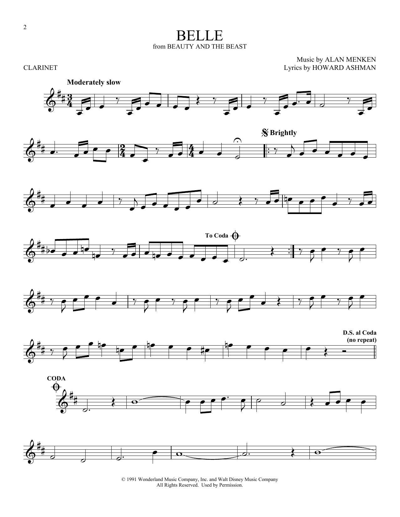 Belle (Clarinet Solo)