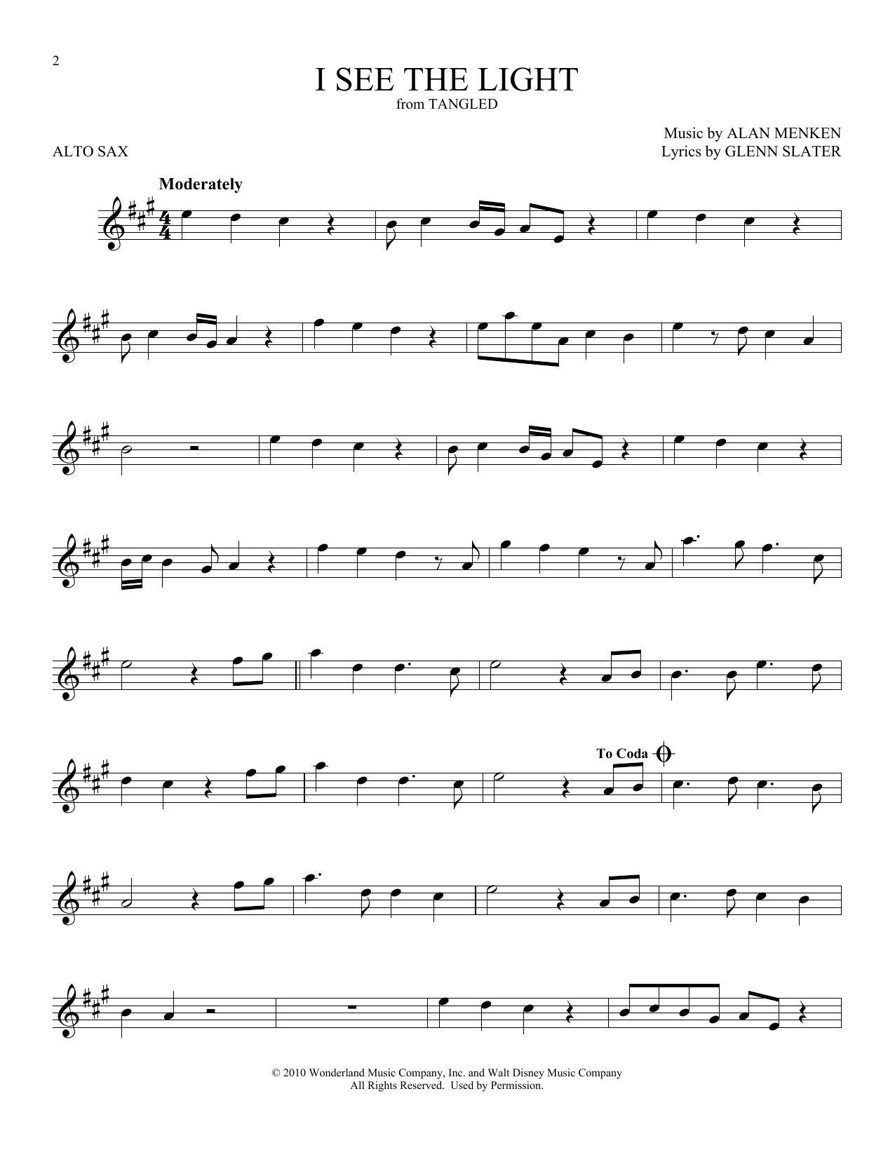 I See The Light (from Disney's Tangled) (Alto Sax Solo)