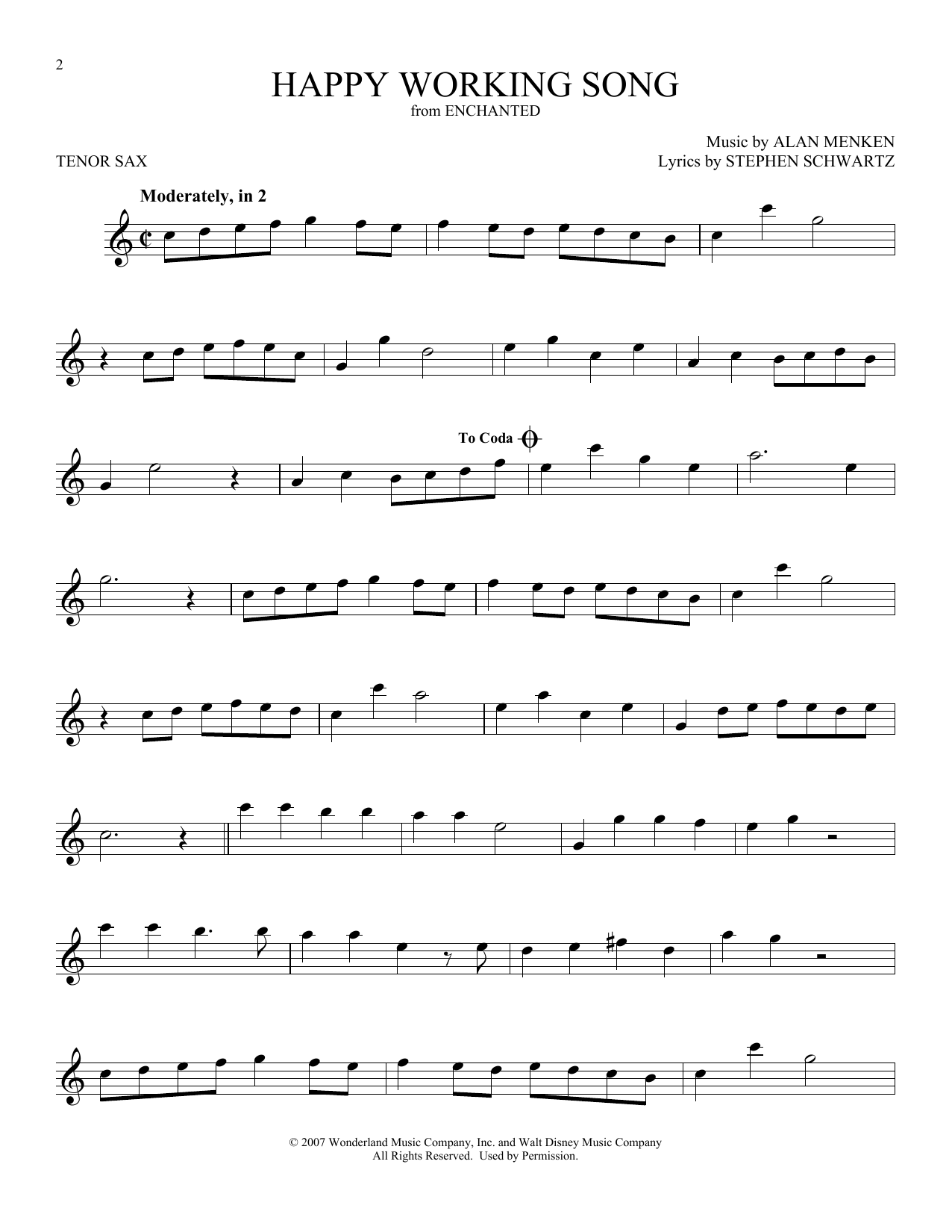 Happy Working Song (Tenor Sax Solo)