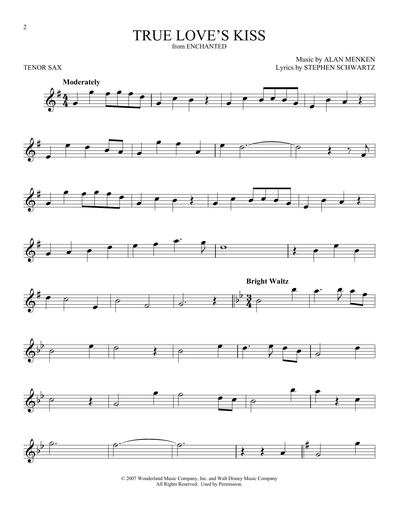 True Love's Kiss (Tenor Sax Solo)