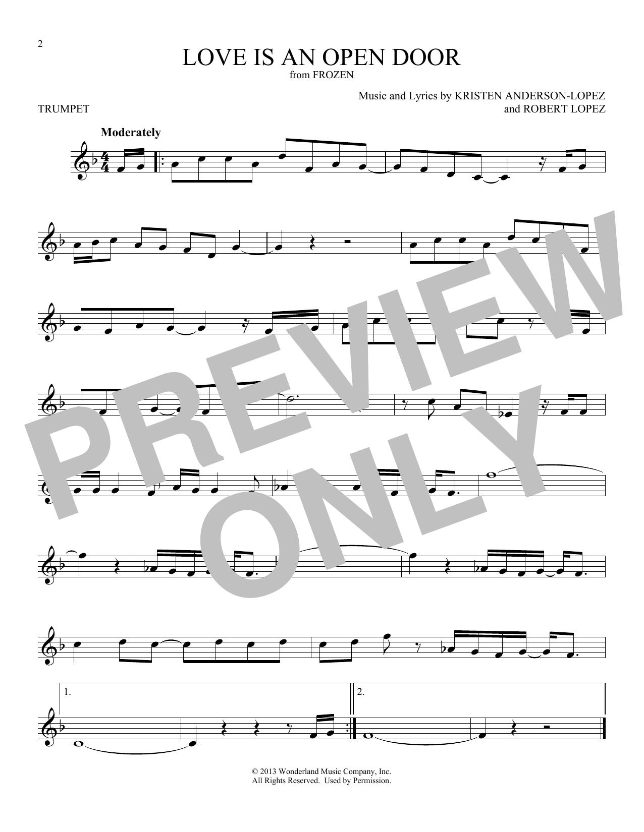 Love Is An Open Door (from Disney's Frozen) (Trumpet Solo)