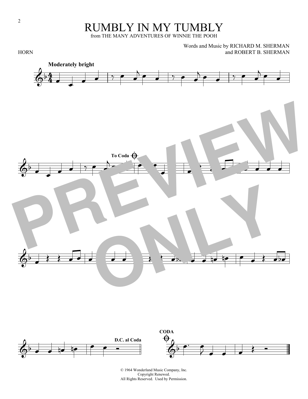 Rumbly In My Tumbly (French Horn Solo)