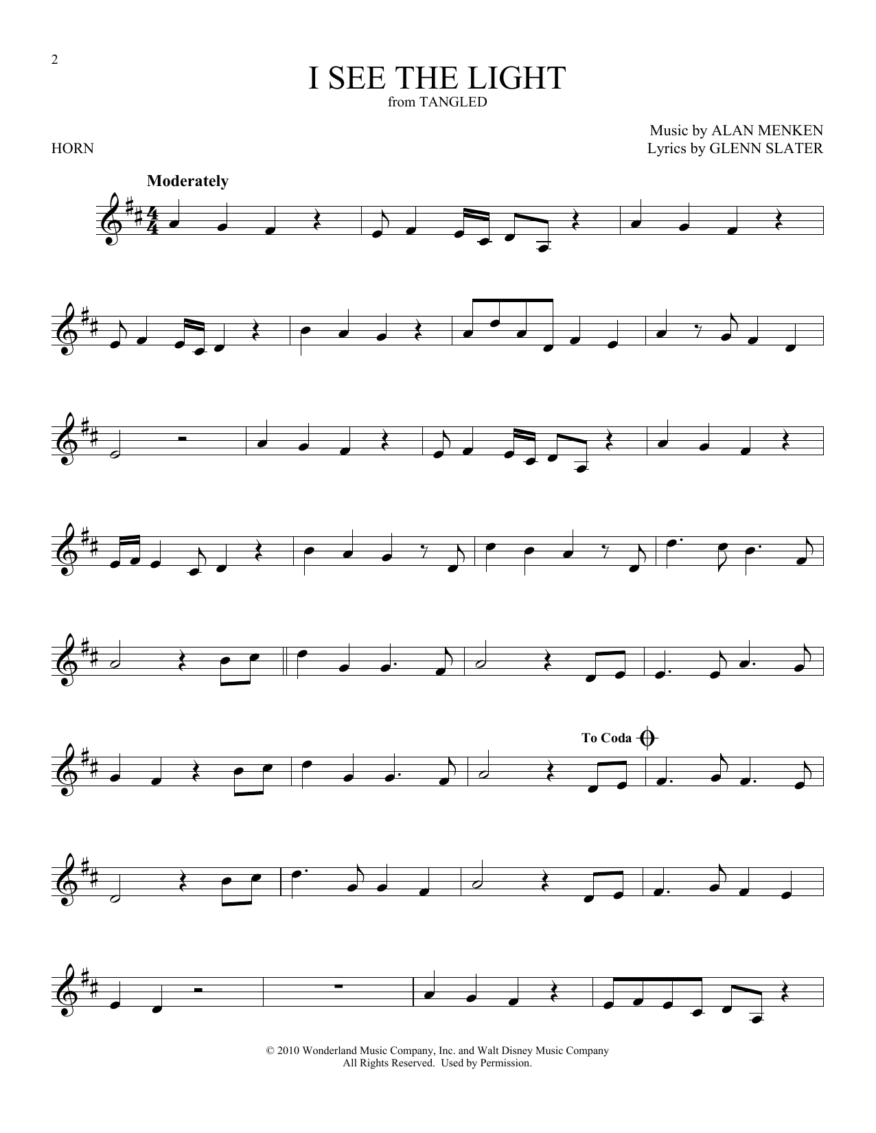 I See The Light (from Disney's Tangled) (French Horn Solo)